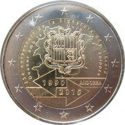 2 Euro (Customs Agreement) – obverse