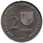 2 Diners - Joan Martí i Alanis (Albertville and Barcelona Olympiads) -  obverse