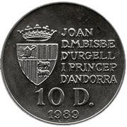 10 Diners - Joan Martí i Alanis (World Cup) -  obverse