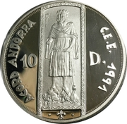 10 Diners (ECU Customs Union) -  obverse