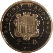 5 Diners - Joan Enric Vives i Sicília (Merry Christmas) -  obverse