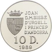 10 Diners - Joan Martí i Alanis (1992 Summer Olympics) -  obverse