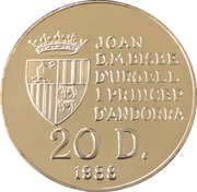 20 Diners - 1992 Winter Olympics -  obverse