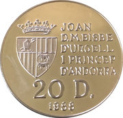 20 Diners (1992 Summer Olympics) -  obverse