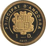 1 Diner - Joan Enric Vives i Sicília (Cigonya Blanca) -  obverse