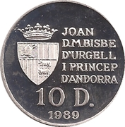 10 Diners (1992 Winter Olympics) -  obverse