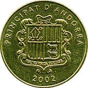 5 Centims (Gall Fer) – obverse