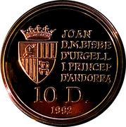 10 Diners - Joan Martí i Alanis (Chamois) -  obverse