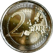 2 Euro  (Universal Declaration of Human Rights) – reverse