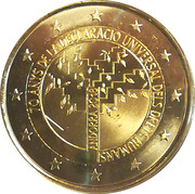2 Euro  (Universal Declaration of Human Rights) -  obverse