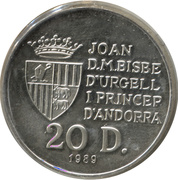 20 Diners (Jeux olympiques Barcelone 1992) -  obverse