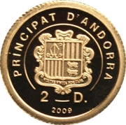 2 diners Jean-Paul II 2009 – reverse