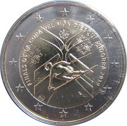 2 Euro (Final of the Alpine Ski World Cup) – obverse