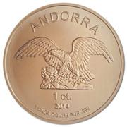 1 Centim (Andorra Eagle) – obverse
