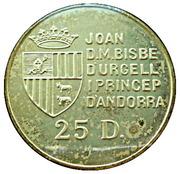 25 Diners - Joan Martí i Alanis (Red Cross) -  obverse