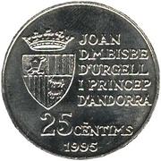 25 Cèntims - Joan Martí i Alanis (50th Anniversary - FAO) – obverse