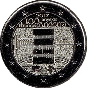2 Euro (Anthem of Andorra) – obverse