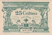 25 centimes - Chambre de Commerce d' Angers – obverse
