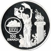 100 Kwanzas (Olympics) – reverse