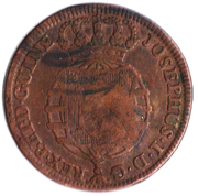 1 Macuta - Maria II (countermarked over ½ Macuta/JoséI)) – obverse