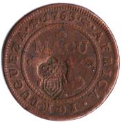 1 Macuta - Maria II (countermarked over ½ Macuta/JoséI)) -  reverse