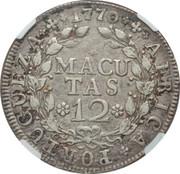 12 Macutas - José I – reverse