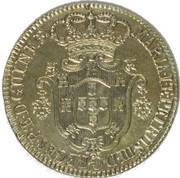 12 Macutas - Maria I & Pedro III -  obverse