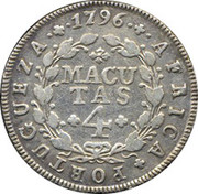 4 Macutas - Maria I -  reverse