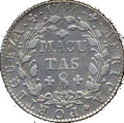 8 Macutas - Maria I – reverse