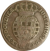 ½ Macuta - Maria II (countermarked ¼ Macuta) -  obverse