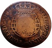 1 Macuta - Maria II (countermarked over ½ Macuta Maria I) – obverse
