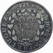 10 Macutas - José I – reverse
