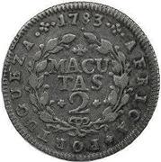 2 Macutas - Maria I & Pedro III -  reverse