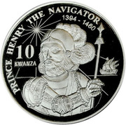 10 Kwanzas (Prince Henry) – reverse