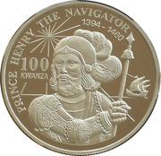 100 Kwanzas (Prince Henry) -  reverse