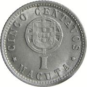 5 Centavos / 1 Macuta -  reverse