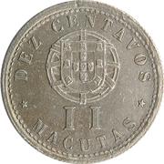 10 Centavos / 2 Macutas – reverse