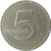 5 Kwanzas – reverse