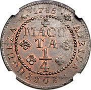 ¼ Macuta - Maria I & Pedro III -  reverse