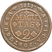 2 Macutas - João Prince Regent -  reverse