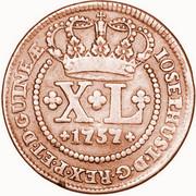 40 Reis - José I -  obverse