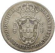 10 Macutas - Maria I & Pedro III -  obverse