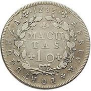 10 Macutas - Maria I & Pedro III -  reverse