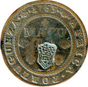 2 Macutas - Maria II (countermarked 1 Macuta) -  reverse