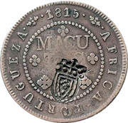 4 Macutas - Pedro V (countermarked over 2 Macutas) -  reverse