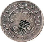 4 Macutas - Pedro V (countermarked over 2 Macutas) – reverse