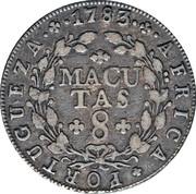 8 Macutas - Maria I & Pedro III – reverse