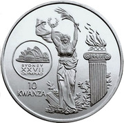 10 Kwanzas (Olympics) -  reverse