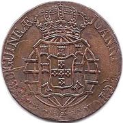 2 Macutas - Pedro V (countermarked 1 Macuta) -  obverse
