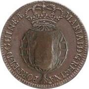 2 Macutas - Maria II (countermarked 1 Macuta) -  obverse